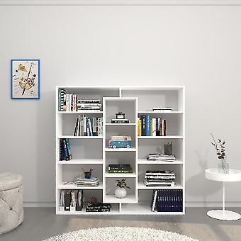 Libreria Dalia Colore Bianco in Truciolare Melaminico, L130xP27xA130 cm