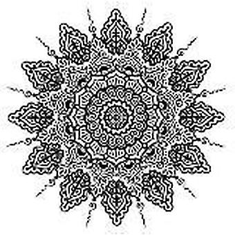 Kreative uttrykk Henna Rangoli Pre Cut Stempel