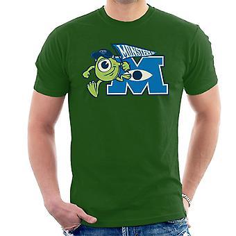 Pixar Monsters Inc Mike Wazowski M Logo Men's T-paita