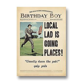 Pigment Fleet Street - Local Lad Goes Places Birthday Card Dv1065a