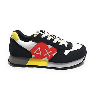 Shoes Baby Sun68 Sneaker Boy's Jaki Suede Navy Blue/ Nylon White Zs21su16 Z31313