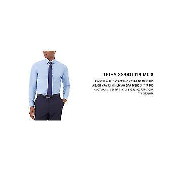 """Kenneth Cole Unlisted Men's Dress Shirt Slim Fit Solid ,  Black,  14""""-14.5""""Ne..."""