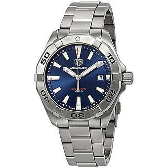 Tag Heuer Aquaracer Blue Brushed Dial Men's Watch WBD1112.BA0928
