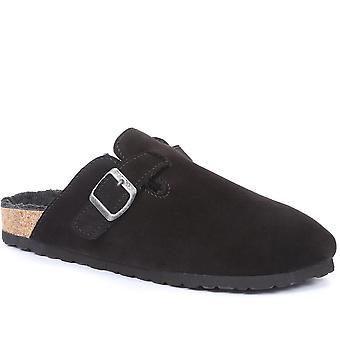 Jones Home Hombre Wilf Zapatos de mula de cuero