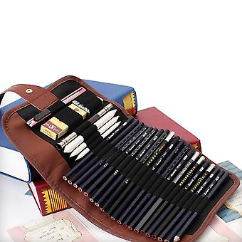 Sketch Pencils Case, Charcoal Extender Pencil Shade Cutter Drawing Bag