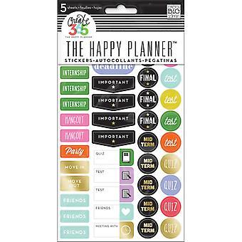 Minä ja suuret ideani - Happy Planner School / College Tarrat