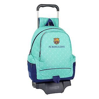 School Rucksack with Wheels 905 F.C. Barcelona 19/20 Turquoise