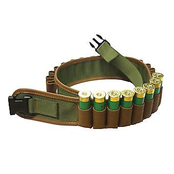 Bisley Canvas 25 Shotgun Cartridge Belt - suede pockets 12 Gauge - 32 to 39 inch