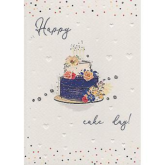 ICG Ltd Pretty In Peach Birthday Card-cake