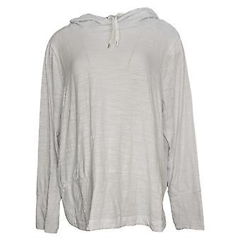 zuda Women's Sweater Z-Air Hooded Pullover Sweatshirt White A383121