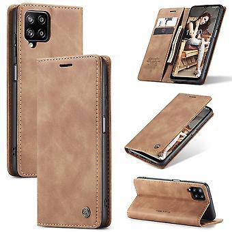 CASEME Plånboksfodral Samsung Galaxy A12 - Brun
