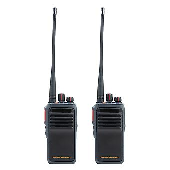 Set of 2 Portable Radio Stations PNI PMR R50, 0.5W, SQ, Scan, TOT, monitor, Waterproof IP67 with 5400mAh batteries, chargers and headphones included