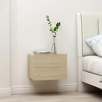 vidaXL Bedside table Sonoma oak 40 x 30 x 30 cm chipboard
