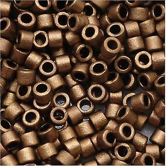 ميوكي ديليكا بذور الخرز، 10/0 الحجم، 8 غرام، ماتي الذهب المعدني DBM0322