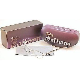 John Galliano Eyeglasses Frame JG5007 057 Metal Plastic Silver Italy 54-16-135