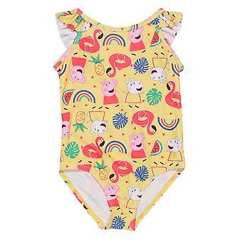 Peppa Pig Baby Girls Rainbow egyrészes fürdőruha