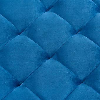vidaXL Banco 97 cm Terciopelo Azul y Acero Inoxidable