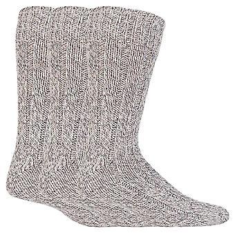 3 Pk mens wool knit work socks
