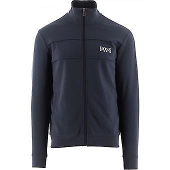 BOSS Темно-синяя легкая куртка-молния