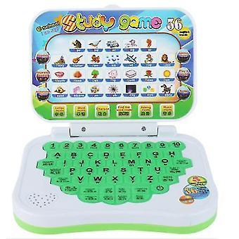 Zelená karikatúra detský stroj na učenie, skladanie angličtiny učenie vzdelávacie hračky az18610