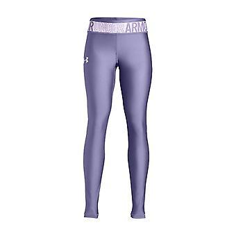 Under Armour HeatGear Armour Kids Girls Sports Legging Tight Purple