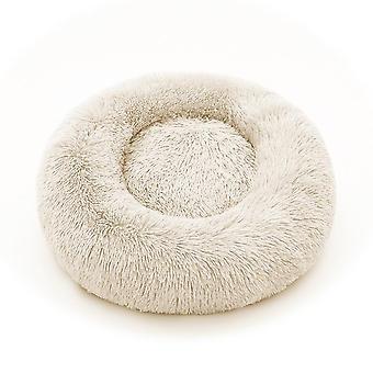 Blød plys Fluffy Pude Donut Runde Pet Bed