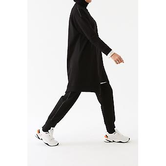 Silvery Striped Track Suit
