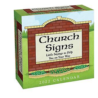 Kyrkans skyltar 2022 DaytoDay Kalender av Andrews McMeel Publishing