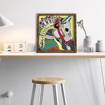MZM472 Flerfärgad dekorativ inramad MDF-målning