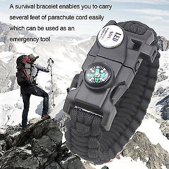 Emak 20 In 1 Waterproof Sos Led Light Outdoor Camping Hiking Survival Bracelet