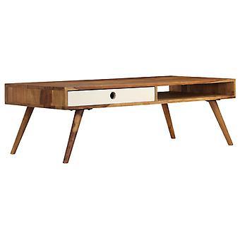 vidaXLコーヒーテーブル110 x 50 x 35 cmの無垢材