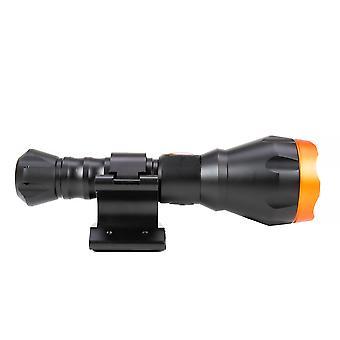 Boîtier de lampe de poche PNI Adventure F550 Crystal LED, support de montage magnétique PNI FLM33 de 10 W et PNI