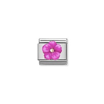 Nomination italy composable link fuschia flower  430510_08