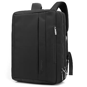 17.3 Inches Convertible Laptop Messenger Bag Shoulder Bag Canvas Backpack-armygreen