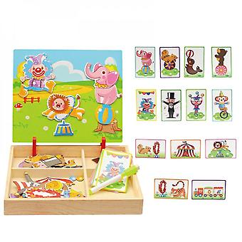 Children's Toys, Magnetic Wooden Puzzles, Baby Educational Games, Educational Toys, Ideal Gifts-(6)