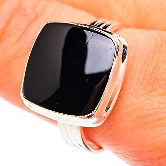 Bague en onyx noir Taille 10.75 (argent sterling 925) - Bijoux Vintage Boho faits à la main RING76154