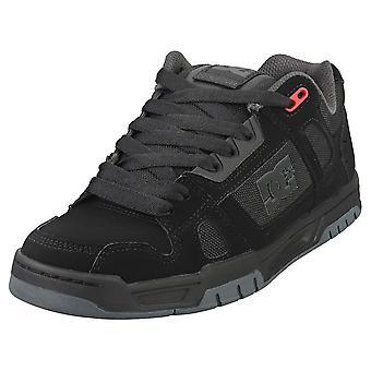 DC Shoes Stag Mens Skate Trainers en Rouge Noir