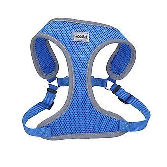 "Coastal Pet Comfort Soft Reflective Wrap Adjustable Dog Harness - Blue Lagoon - X-Small - 16-19"" Girth - (5/8"" Straps)"