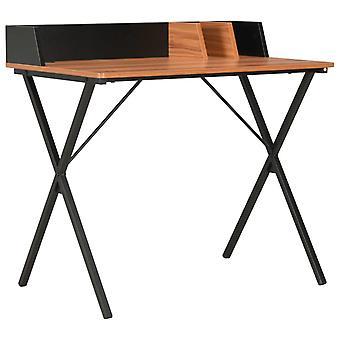 Työpöytä musta ja ruskea 80x50x84 cm