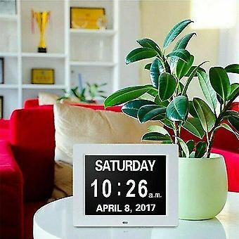 Alarm clocks black digital day alarm clock led calendar dementia time