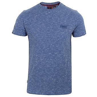 Superdry miesten vuorovesi sininen spacedye kirjailtu logo t-paita
