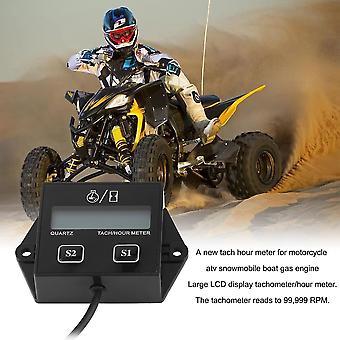 12v LCDディスプレイタコメーターアワーメーターオートバイ2&4ストロークガソリンエンジン
