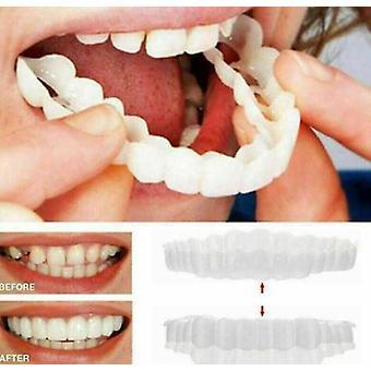 1pcs ابتسامة المفاجئة على العلوي الأسنان الزائفة القشرة الأسنان أطقم الأسنان وهمية غطاء الأسنان