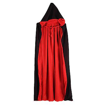 Halloween Children / Adults Black And Red Double-sided Vampire Death Cloak