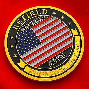 Yhdysvaltain tähdet ja raidat kolikkomerkki eläkkeellä muistokolikko viisi armeijan kokoelman muistokultaa kolikko