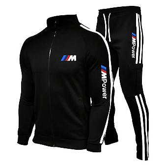 Mannen Activewear Full Zip Warm Trainingspak Sport Set Casual Sweat Suit