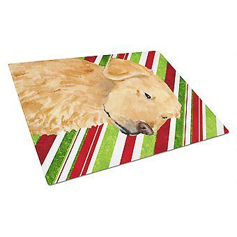 Golden Retriever Candy Cane ferie jul glas skære bord store