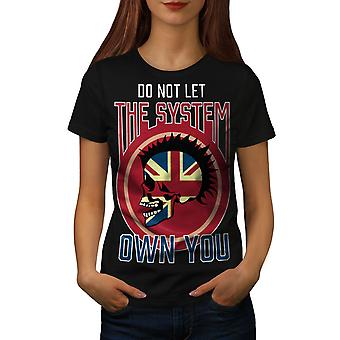The System Women BlackT-shirt   Wellcoda
