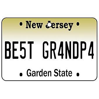 New Jersey - Best Grandpa License Plate Car Air Freshener