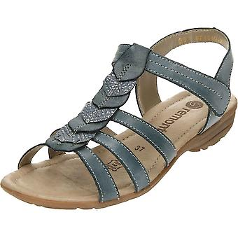 Remonte Blue Gladiator Touch Fastening Wedge Sandals R3658